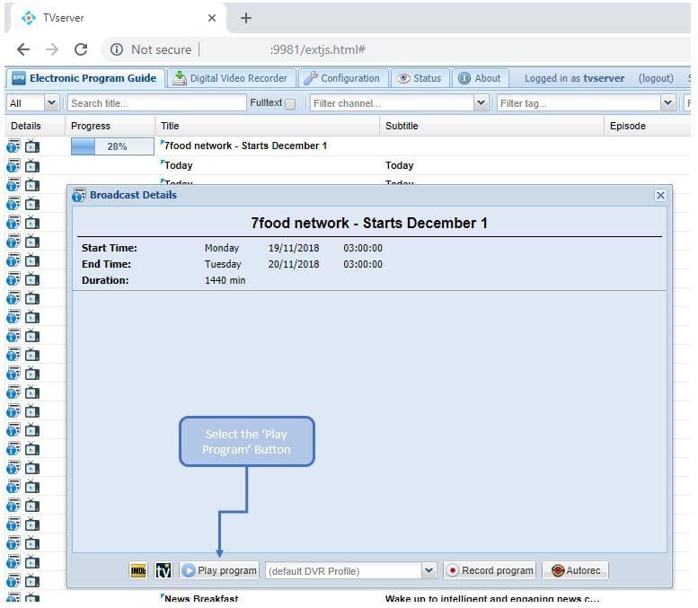 How to configure TVheadend server - Dirty Optics