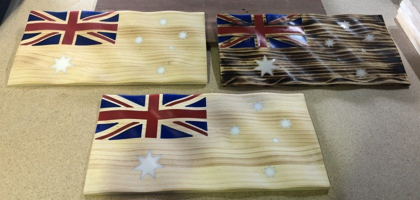 3D Carved and finished flags