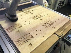 3D Carved Flag CNC router
