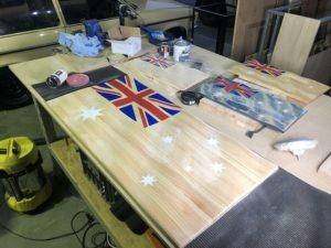 3D Carved Flag materials